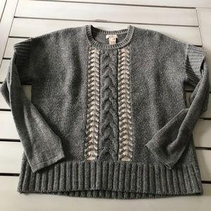 Sundance Wool Blend Gray Pullover Sweater Small